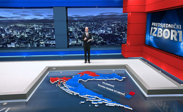 Case Study: Nova TV virtual studio with immersive graphics